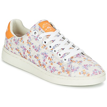 Schoenen Dames Lage sneakers Pepe jeans CLUB FLOWERS Wit