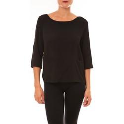 Textiel Dames T-shirts met lange mouwen La Vitrine De La Mode By La Vitrine Top K598 noir Zwart