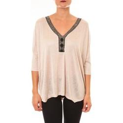 Textiel Dames Tops / Blousjes La Vitrine De La Mode By La Vitrine Top R5550 beige Beige