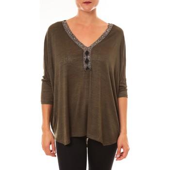 Textiel Dames Tops / Blousjes La Vitrine De La Mode By La Vitrine Top R5550 vert Groen