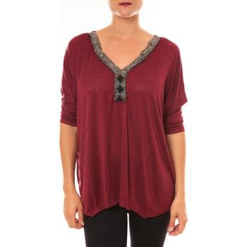 Textiel Dames Tops / Blousjes La Vitrine De La Mode By La Vitrine Top R5550 bordeaux Rood