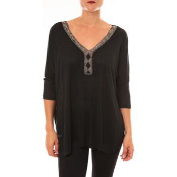 Textiel Dames Tops / Blousjes La Vitrine De La Mode By La Vitrine Top R5550 noir Zwart