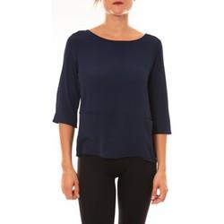 Textiel Dames T-shirts met lange mouwen La Vitrine De La Mode By La Vitrine Top K598 marine Blauw