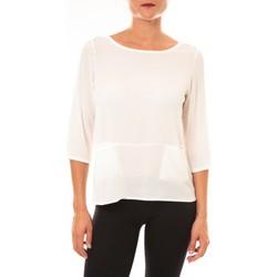 Textiel Dames T-shirts met lange mouwen La Vitrine De La Mode By La Vitrine Top K598 blanc Wit