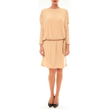 Textiel Dames Korte jurken Dress Code Robe 53021 beige Beige