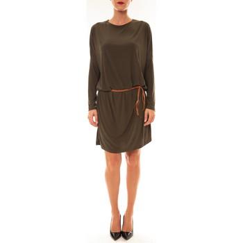 Textiel Dames Korte jurken Dress Code Robe 53021 vert Groen