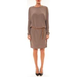 Textiel Dames Korte jurken Dress Code Robe 53021 taupe Bruin