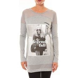 Textiel Dames Truien La Vitrine De La Mode Tee Shirt Manches Longues Sweat MC1919 gris Grijs
