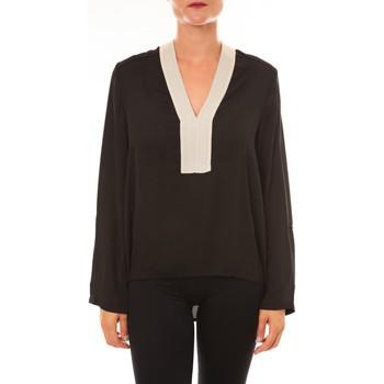 Textiel Dames Tops / Blousjes La Vitrine De La Mode By La Vitrine Blouse Z089 noir Zwart