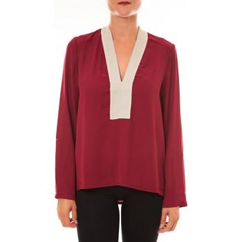 Textiel Dames Tops / Blousjes La Vitrine De La Mode By La Vitrine Blouse Z089 bordeaux Rood