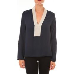 Textiel Dames Tops / Blousjes La Vitrine De La Mode By La Vitrine Blouse Z089 marine Blauw