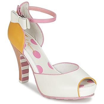 Schoenen Dames Sandalen / Open schoenen Lola Ramona ANGIE Roze / Wit