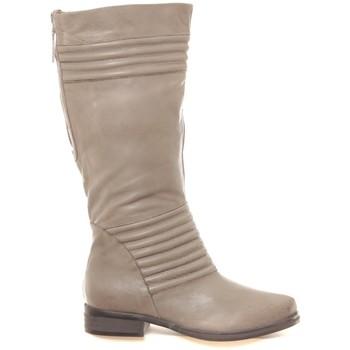 Schoenen Dames Hoge laarzen Ilario Ferucci Bottes en cuir Gaelane taupe Bruin