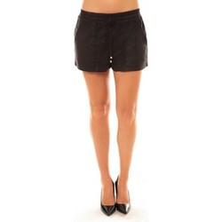 Textiel Dames Korte broeken / Bermuda's La Vitrine De La Mode By La Vitrine Short Y536 noir Zwart