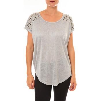 Textiel Dames T-shirts korte mouwen La Vitrine De La Mode By La Vitrine Top C2163 gris Grijs