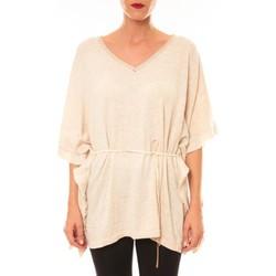Textiel Dames T-shirts korte mouwen La Vitrine De La Mode By La Vitrine Pull MC3120 beige Beige