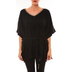 Textiel Dames T-shirts korte mouwen La Vitrine De La Mode By La Vitrine Pull MC3120 noir Zwart