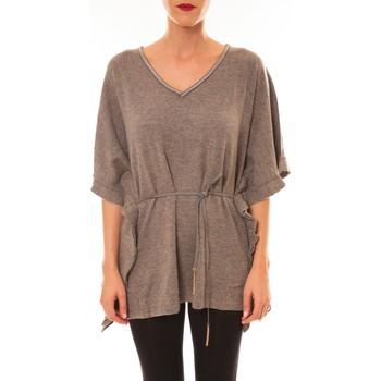Textiel Dames T-shirts korte mouwen La Vitrine De La Mode By La Vitrine Pull MC3120 gris foncé Grijs