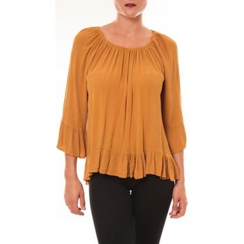 Textiel Dames Tops / Blousjes By La Vitrine Blouse Giulia moutarde Geel