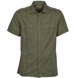 Textiel Heren Overhemden korte mouwen Chevignon C MILITARY TWIL Groen