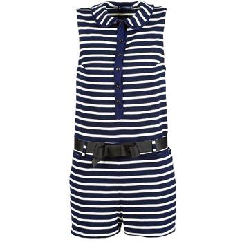 Textiel Dames Jumpsuites / Tuinbroeken Petit Bateau FAITOUT Marine / Wit