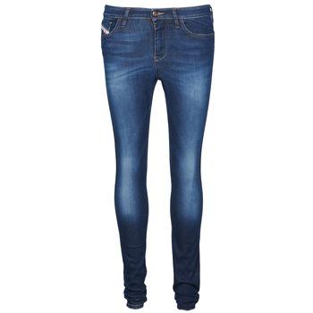 Textiel Dames Skinny jeans Diesel SKINZEE Blauw