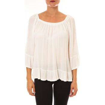 Textiel Dames Tops / Blousjes By La Vitrine Blouse Giulia blanc Wit