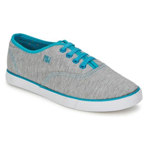 Schoenen Dames Lage sneakers Dorotennis C1 TENNIS RICHELIEU LACETS SEMELL JERSEY Grijs / Turquoize