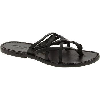 Schoenen Dames Sandalen / Open schoenen Gianluca - L'artigiano Del Cuoio 543 D NERO CUOIO nero