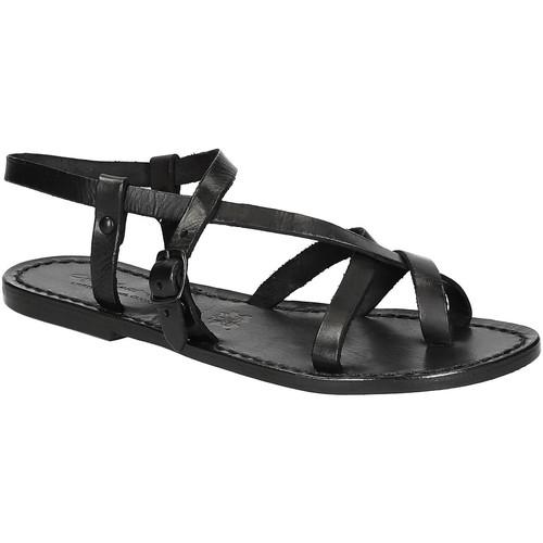 Schoenen Dames Sandalen / Open schoenen Gianluca - L'artigiano Del Cuoio 530 D NERO CUOIO nero
