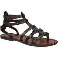 Schoenen Dames Sandalen / Open schoenen Gianluca - L'artigiano Del Cuoio 506 D MORO CUOIO Testa di Moro