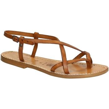 Schoenen Dames Sandalen / Open schoenen Gianluca - L'artigiano Del Cuoio 537 D CUOIO CUOIO Cuoio