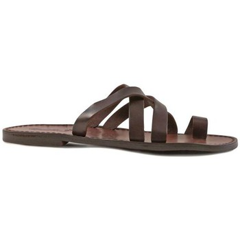 Schoenen Heren Sandalen / Open schoenen Gianluca - L'artigiano Del Cuoio 549 U MORO CUOIO Testa di Moro