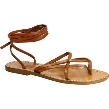 Schoenen Dames Sandalen / Open schoenen Gianluca - L'artigiano Del Cuoio 514 D CUOIO CUOIO Cuoio