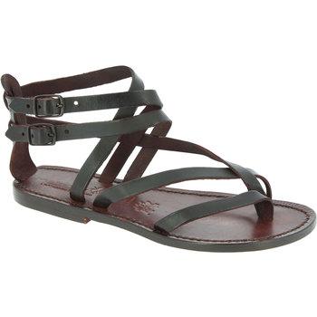Schoenen Dames Sandalen / Open schoenen Gianluca - L'artigiano Del Cuoio 574 D MORO CUOIO Testa di Moro