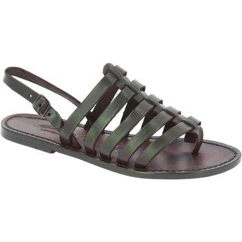 Schoenen Dames Sandalen / Open schoenen Gianluca - L'artigiano Del Cuoio 576 D MORO CUOIO Testa di Moro