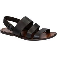 Schoenen Heren Sandalen / Open schoenen Gianluca - L'artigiano Del Cuoio 507 U MORO CUOIO Testa di Moro