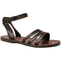 Schoenen Dames Sandalen / Open schoenen Gianluca - L'artigiano Del Cuoio 583 D MORO CUOIO Testa di Moro