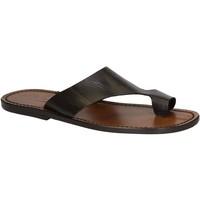 Schoenen Heren Sandalen / Open schoenen Gianluca - L'artigiano Del Cuoio 521 U MORO CUOIO Testa di Moro