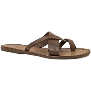 Schoenen Dames Sandalen / Open schoenen Gianluca - L'artigiano Del Cuoio 545 D FANGO CUOIO Fango