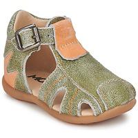 Schoenen Jongens Sandalen / Open schoenen Mod'8 ALUCINE Groen / OranJe