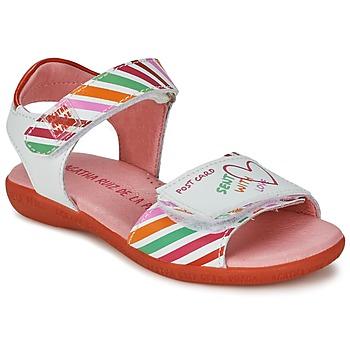 Schoenen Meisjes Sandalen / Open schoenen Agatha Ruiz de la Prada CAZOLETA Wit / Multi