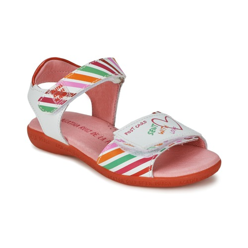Schoenen Meisjes Sandalen / Open schoenen Agatha Ruiz de la Prada CAZOLETA Wit / Multicolour