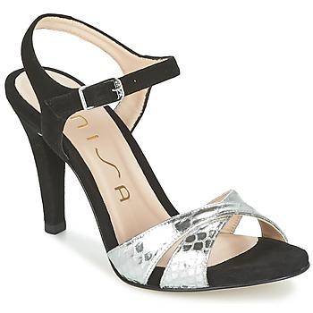 Schoenen Dames Sandalen / Open schoenen Unisa WARIAN Zwart / Zilver