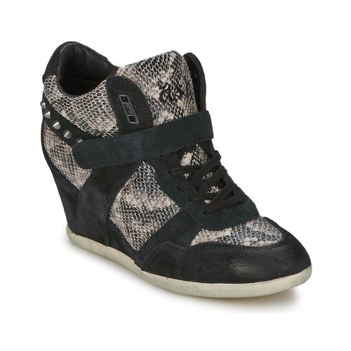 Schoenen Dames Hoge sneakers Ash BISOU Zwart / Slang