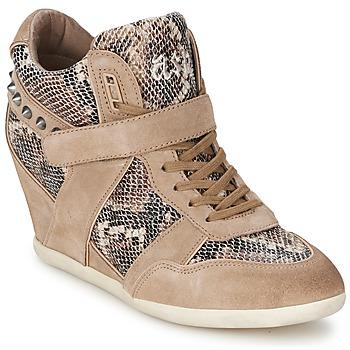Schoenen Dames Hoge sneakers Ash BISOU Taupe / Slang