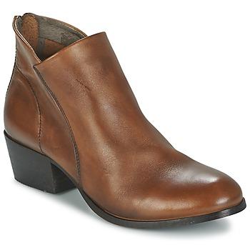 Schoenen Dames Enkellaarzen Hudson  Bruin