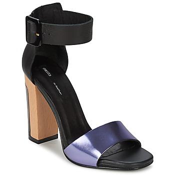 Schoenen Dames Sandalen / Open schoenen Miista LILY Zwart / Lavendel
