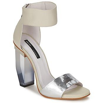 Schoenen Dames Sandalen / Open schoenen Miista JAYDA Wit / Zilver