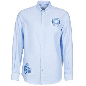 Textiel Heren Overhemden lange mouwen Serge Blanco ANTONIO Blauw